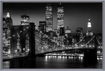 Πλαισιωμένη αφίσα  Manhattan - Night