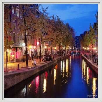 Πλαισιωμένη αφίσα  Red Light District in Amsterdam