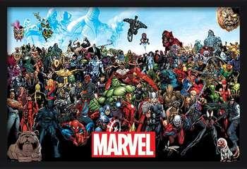 Πλαισιωμένη αφίσα  Marvel - Universe