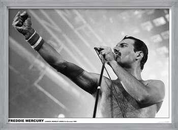 Πλαισιωμένη αφίσα Freddie Mercury - Wembley 1984