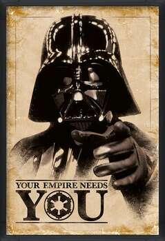Πλαισιωμένη αφίσα Star Wars - Your Empire Needs You