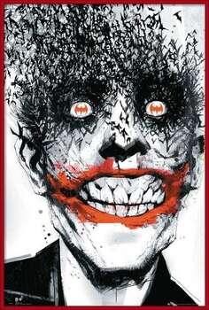 Πλαισιωμένη αφίσα BATMAN Comic - Joker Bats