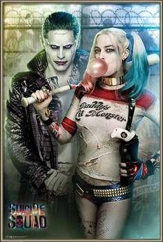 Πλαισιωμένη αφίσα Suicide Squad - Joker and Harley Quinn