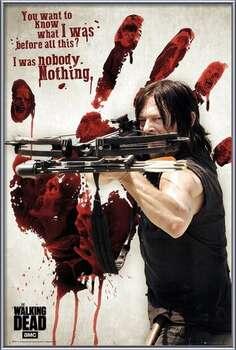 Πλαισιωμένη αφίσα Walking Dead - Bloody Hand Daryl