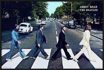 Πλαισιωμένη αφίσα Beatles - abbey road