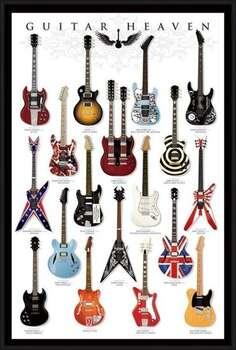 Πλαισιωμένη αφίσα Guitar heaven