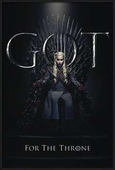 Πλαισιωμένη αφίσα Game Of Thrones - Daenerys For The Throne