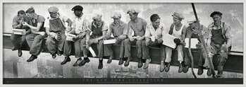 Πλαισιωμένη αφίσα Men on girder