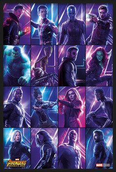 Πλαισιωμένη αφίσα Avengers: Infinity War - Heroes