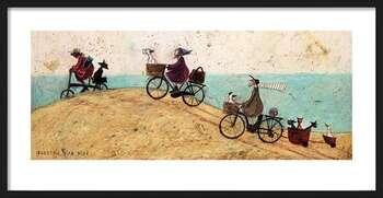 Πλαισιωμένη αφίσα Sam Toft - Electric Bike Ride