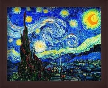 Πλαισιωμένη αφίσα The Starry Night, June 1889