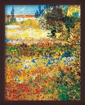 Πλαισιωμένη αφίσα Flowering garden, 1898