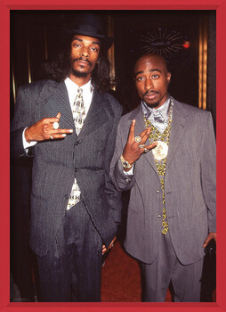 Πλαισιωμένη αφίσα Snoop Dogg & Tupac - Suits