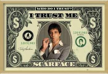 Πλαισιωμένη αφίσα SCARFACE - dollar