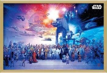 Πλαισιωμένη αφίσα Star Wars - Universe