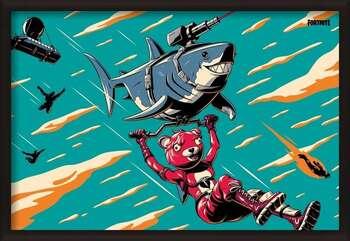 Πλαισιωμένη αφίσα Fortnite - Laser Shark